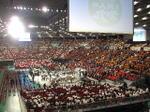 本番前の最後の休憩を迎えていた大阪城ホール場内《東(上手)側から;071202休憩時撮影》