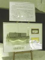 「ティアラこうとう」地下1階にある旧江東公会堂を紹介する2枚のパネル。その向こうにはその旧江東公会堂で使われていたグランドピアノ「スタインウェイD型フルコンサート(1960年製)」が鎮座している《080224撮影》