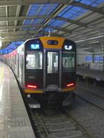 阪神西九条駅に停車中の阪神1000系電車。廃止直前だった三木鉄道に乗りに行く途上での初顔合わせだった《080331撮影》