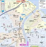 「高速鳴門」バス停留所から公演会場の鳴門市文化会館に至るまでの地図《マピオン(Mapion)の地図データを使用》