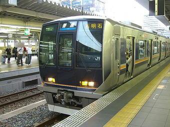 大阪05:40発の西明石行き各駅停車(321系電車7両編成)