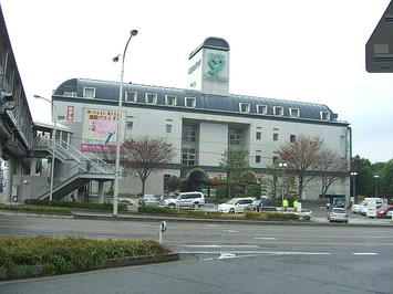 「第九ひろしま2008」公演当日朝の広島サンプラザ。曇り空が広がっていた《081221撮影》