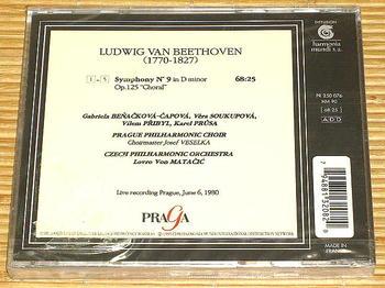 注文したCD本体(裏面)。チェコ語で歌唱した旨の記載は見当たらなかった《090707撮影》