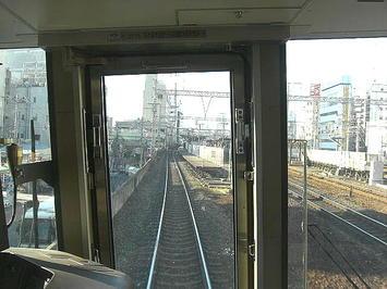 三ノ宮駅・外線ホームに入線する播州赤穂行き新快速《091219撮影》