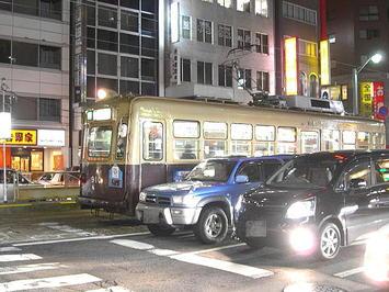 広電白島線を走る広島電鉄900形車両。元大阪市電2601形である《091219撮影》
