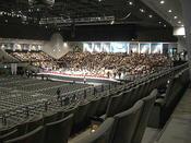 小休止中の「第九hirosima2009」ステージ全景。右側から《091220撮影》