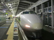 広島市内で開催された「第九ひろしま2008」からの帰りに岡山から姫路までの2駅間分お世話になった100系車両による上り新大阪行き「こだま」。前面部を撮影《081221撮影》