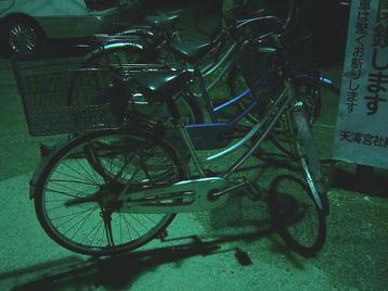 道明寺天満宮に到着した私の自転車《110101撮影》