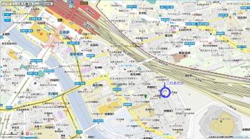 「純音楽茶房ムシカ」所在位置とその周辺図。周囲には広島駅の他、「MAZDA Zoom-Zoom スタジアム広島」やビックカメラ・ベスト広島店が控えている《地図サイト『マピオン(Mapion)』のデータを使用》