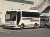 広島サンプラザの敷地内に停まっていた「千里山バス」
