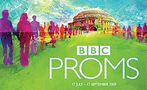 昨年(2009年)夏開催分の「BBCプロムス(PROMS)」のロゴ。ほっそりした書体で描かれた、どことなくスマートな感じの作りをしている